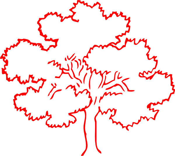 Red oak tree clipart image black and white download Red Oak Tree Silhouette Clip Art at Clker.com - vector clip ... image black and white download
