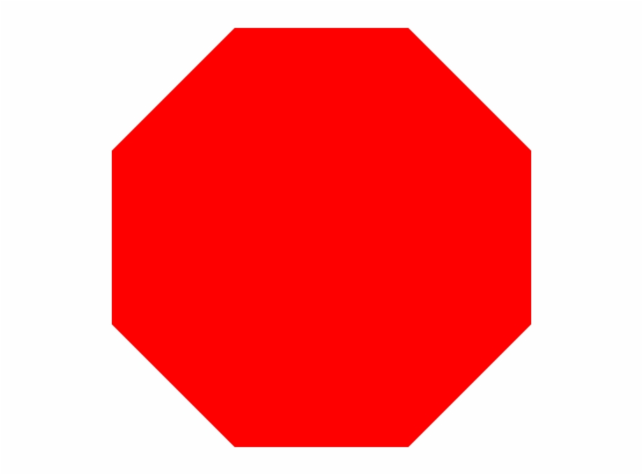 Red octagon clipart black and white Octagon Shape Colouring Pages Page Free PNG Images & Clipart ... black and white