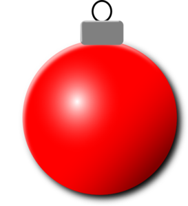 Red ornament clipart jpg black and white download Red Christmas Ornament Clip Art at Clker.com - vector clip ... jpg black and white download