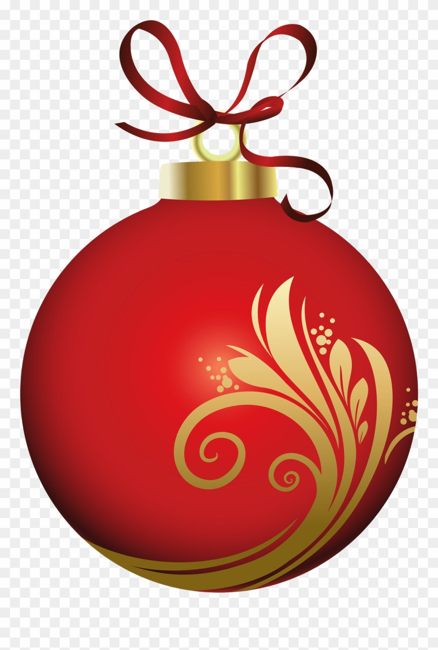 Red ornament clipart transparent stock Christmas Ornament Clipart Png Red Christmas Ornament ... transparent stock