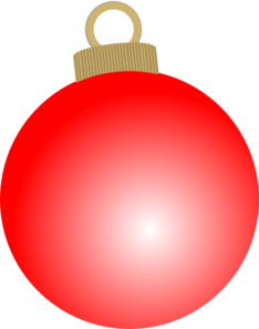 Red ornament clipart svg royalty free download Red Christmas Ball Ornament Clip Art at Clker.com - vector ... svg royalty free download