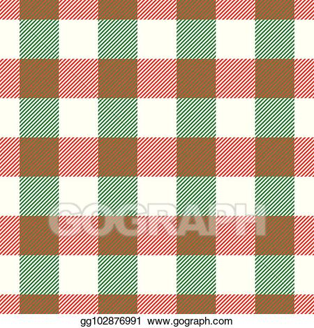 Vector Art - Lumberjack plaid pattern in red, white and ... clip library library