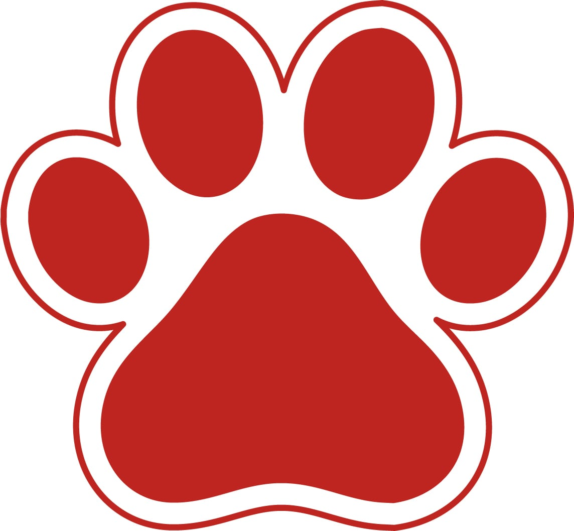Red paw clipart image Paw-print-clip-art-red-paw-clipart-kid - Ottumwa Radio image