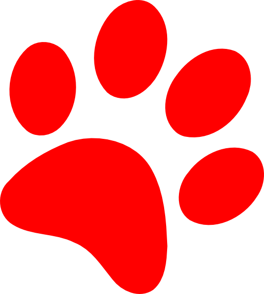 Red paw clipart clip free library Red Paw Print Clip Art N8 free image clip free library