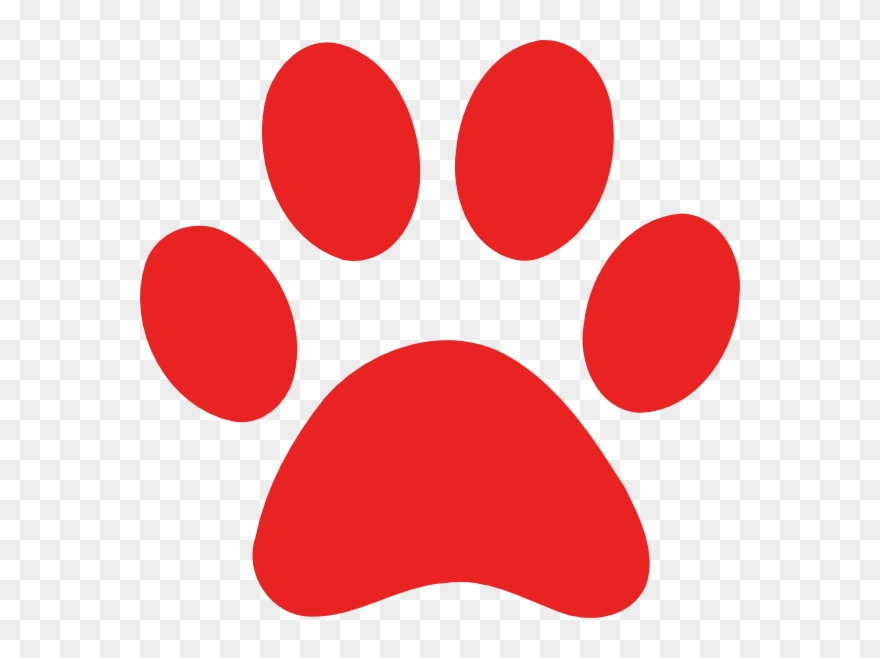 Red paw clipart download Paw Print Clip Art - Red Dog Paw Print - Png Download ... download