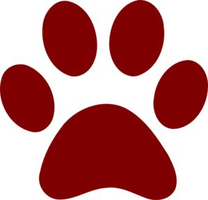 Red paw clipart vector transparent library Dark Red Paw Print clip art | Clipart Panda - Free Clipart ... vector transparent library