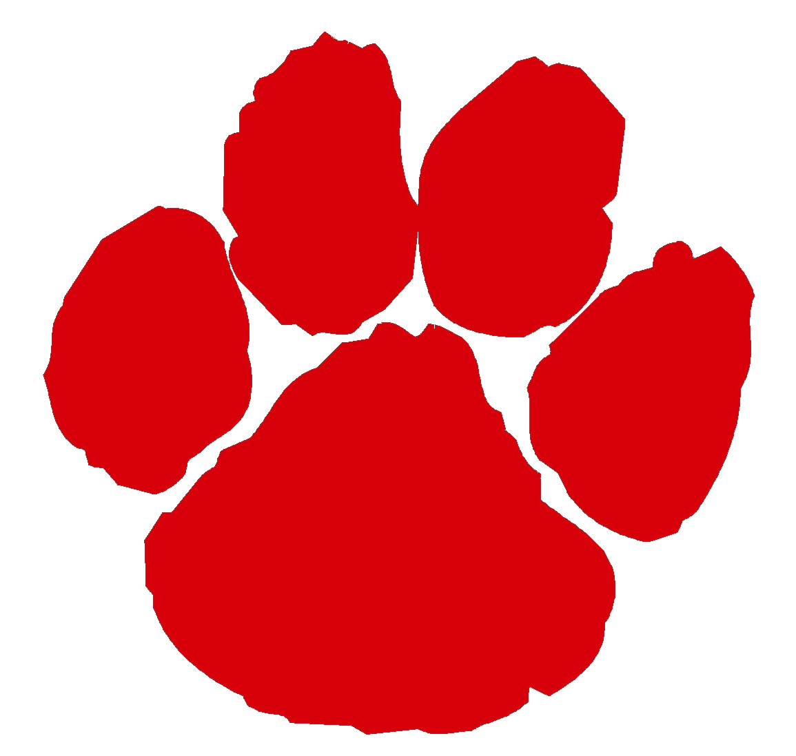 Red paw clipart clipart royalty free stock Red Paw Print Clip Art N3 free image clipart royalty free stock
