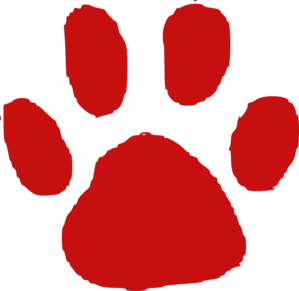 Red paw clipart freeuse library Red Paw Print Clip Art at Clker.com - vector clip art online ... freeuse library
