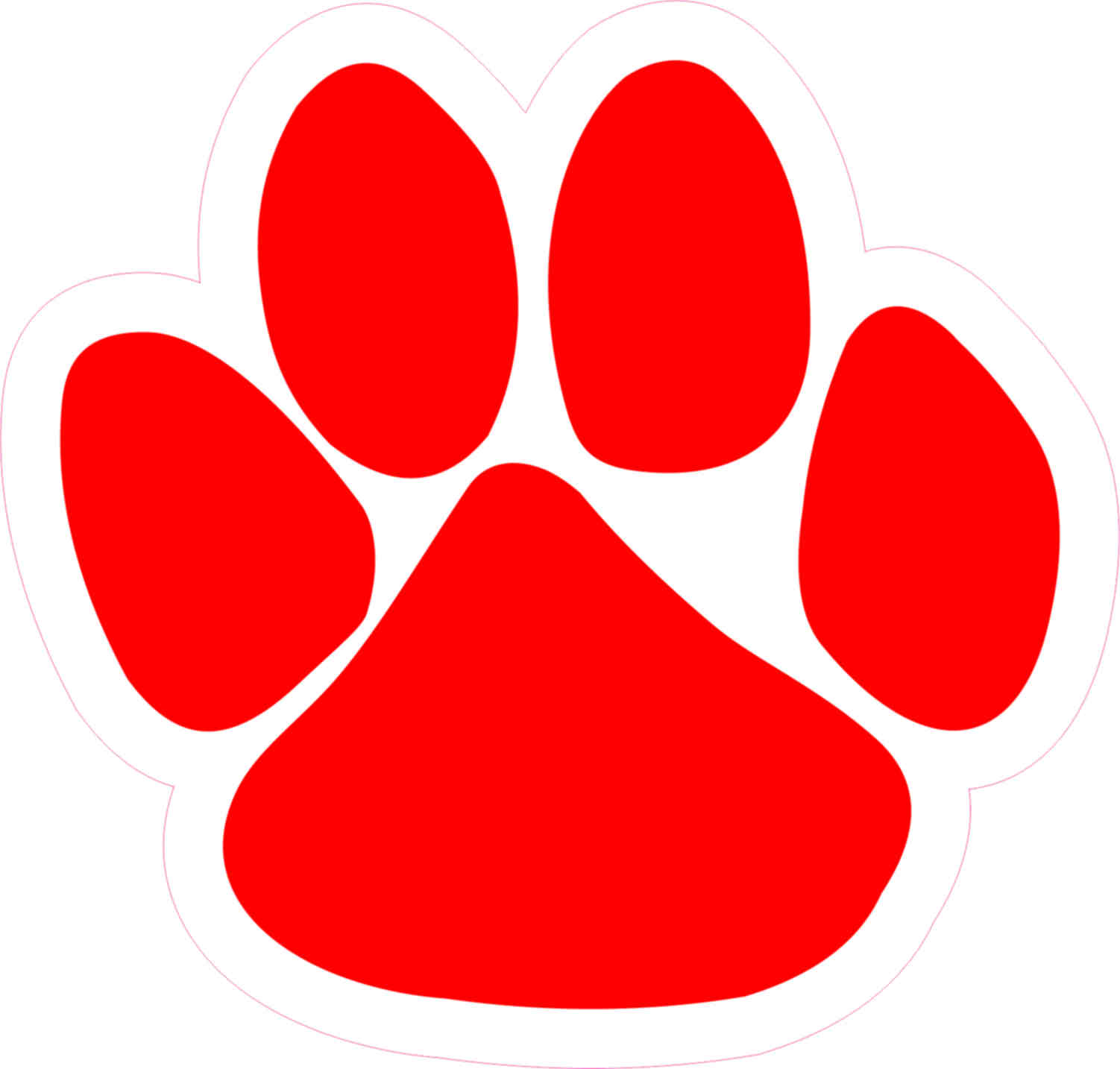 Red paw clipart image freeuse stock Red Paw Print | Free download best Red Paw Print on ... image freeuse stock