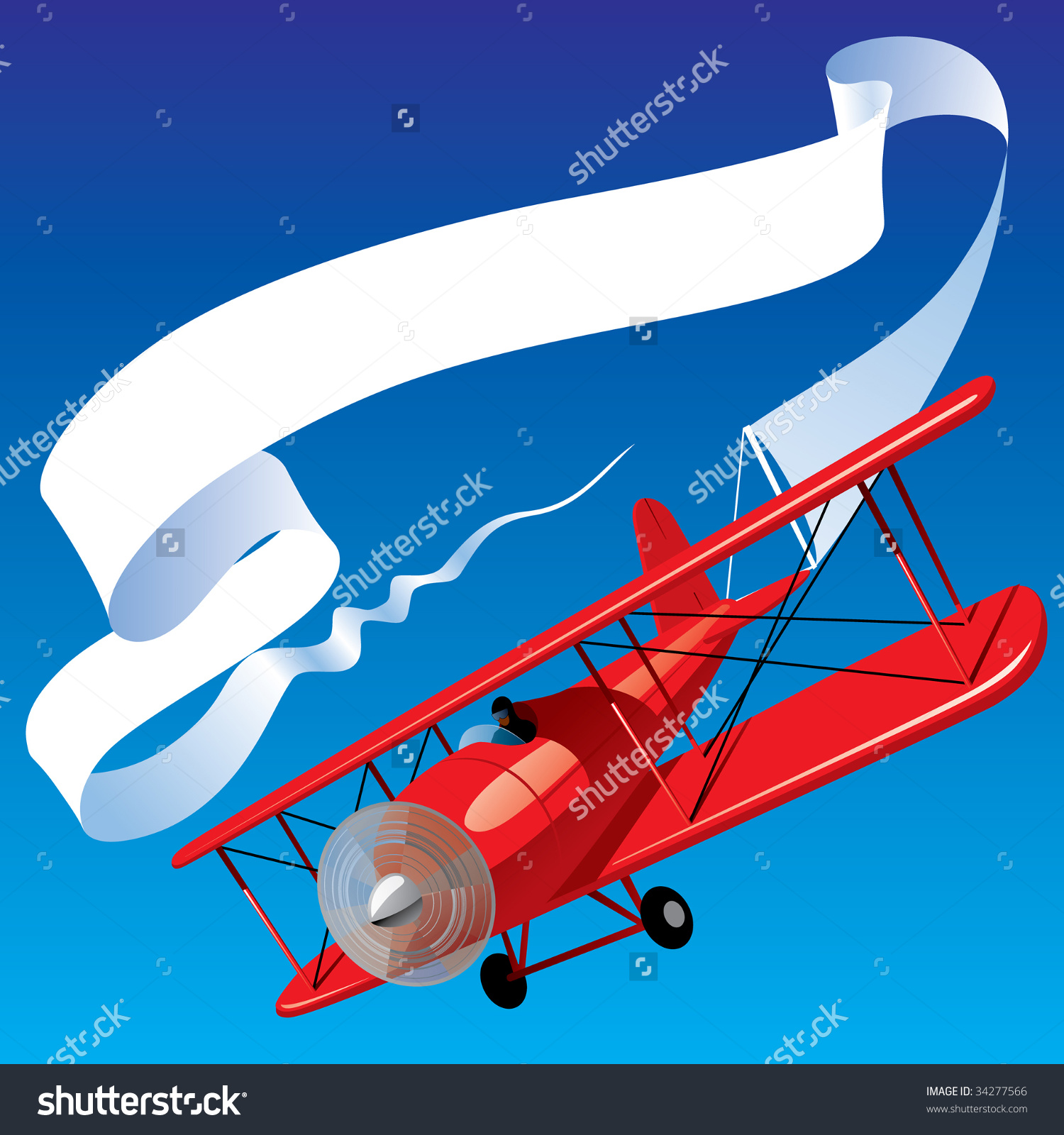 Red plane banner clipart vector black and white library Red plane banner clipart - ClipartFest vector black and white library