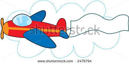 Red plane banner clipart banner stock Plane banner clipart - ClipartFest banner stock