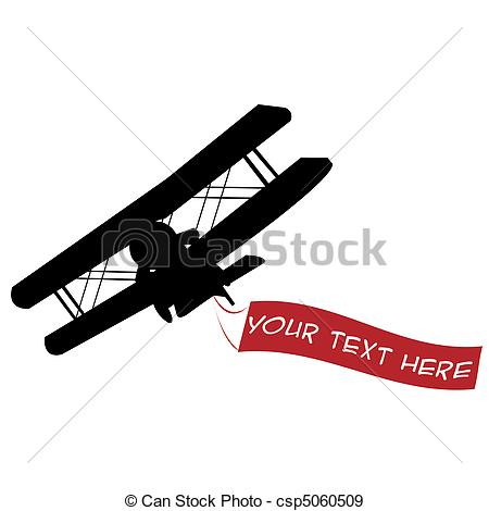 Red plane banner clipart graphic library stock Stock Illustration of Black airplane silhouette with red banner ... graphic library stock