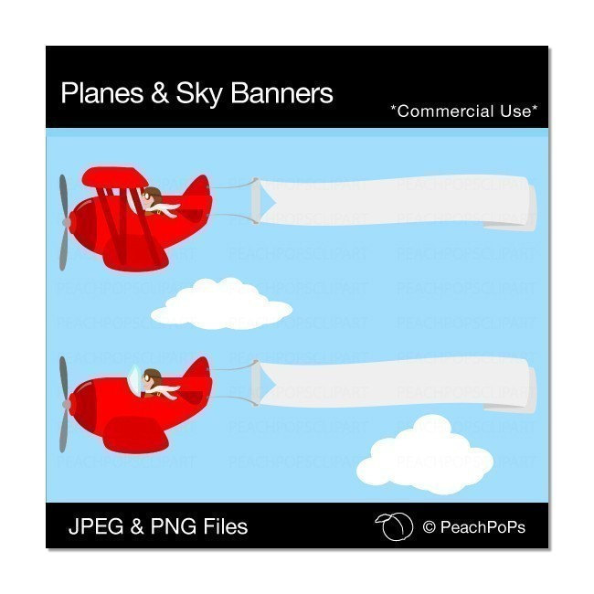 Red plane banner clipart vector free stock Red plane banner clipart - ClipartFest vector free stock