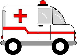Red police car clipart vector free download Ambulance Clipart Image - Ambulance Van with Red Cross Symbol vector free download