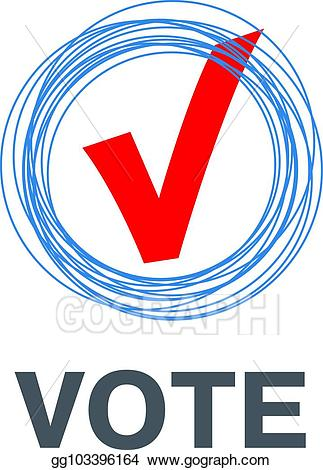 EPS Vector - Vector red vote label. poll icon. Stock Clipart ... banner black and white stock