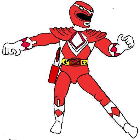 Red Ranger Cliparts - Cliparts Zone banner royalty free download