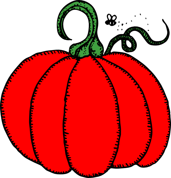 Red pumpkin clipart clip art royalty free library Red Pumpkin Clip Art at Clker.com - vector clip art online, royalty ... clip art royalty free library