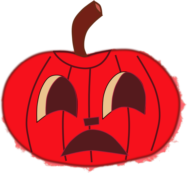 Red pumpkin clipart svg free stock Clipart - Halloween faces for pumpkins, red svg free stock