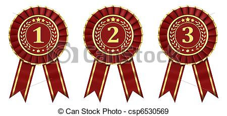 Red ribbon award clipart image library stock Stock Illustration of Red ribbon awards - Ribbon awards for first ... image library stock