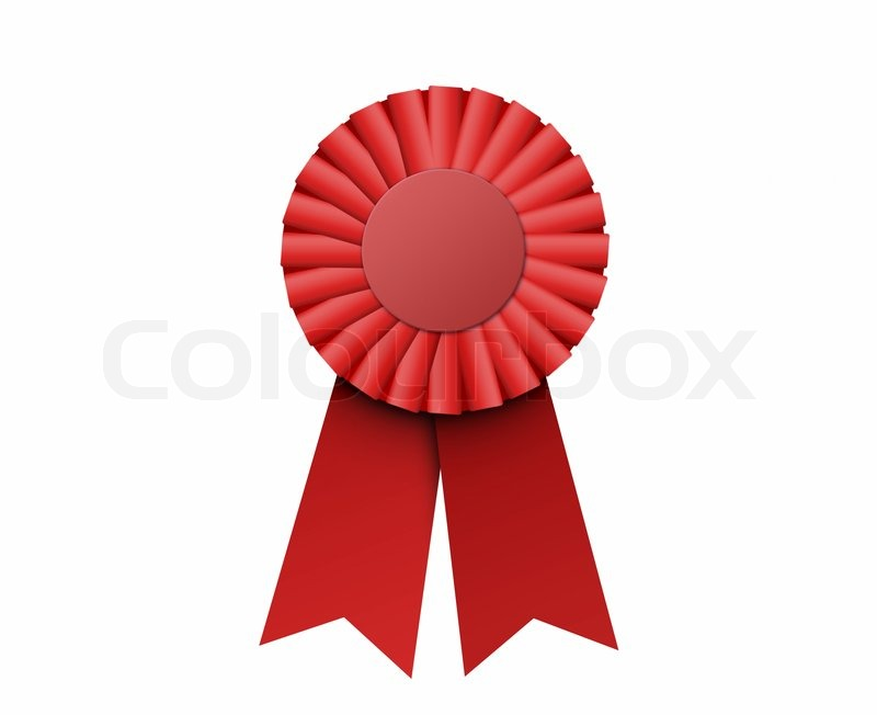Red ribbon award clipart graphic transparent stock First place red ribbon, bitmap copy isolated | Stock Photo | Colourbox graphic transparent stock