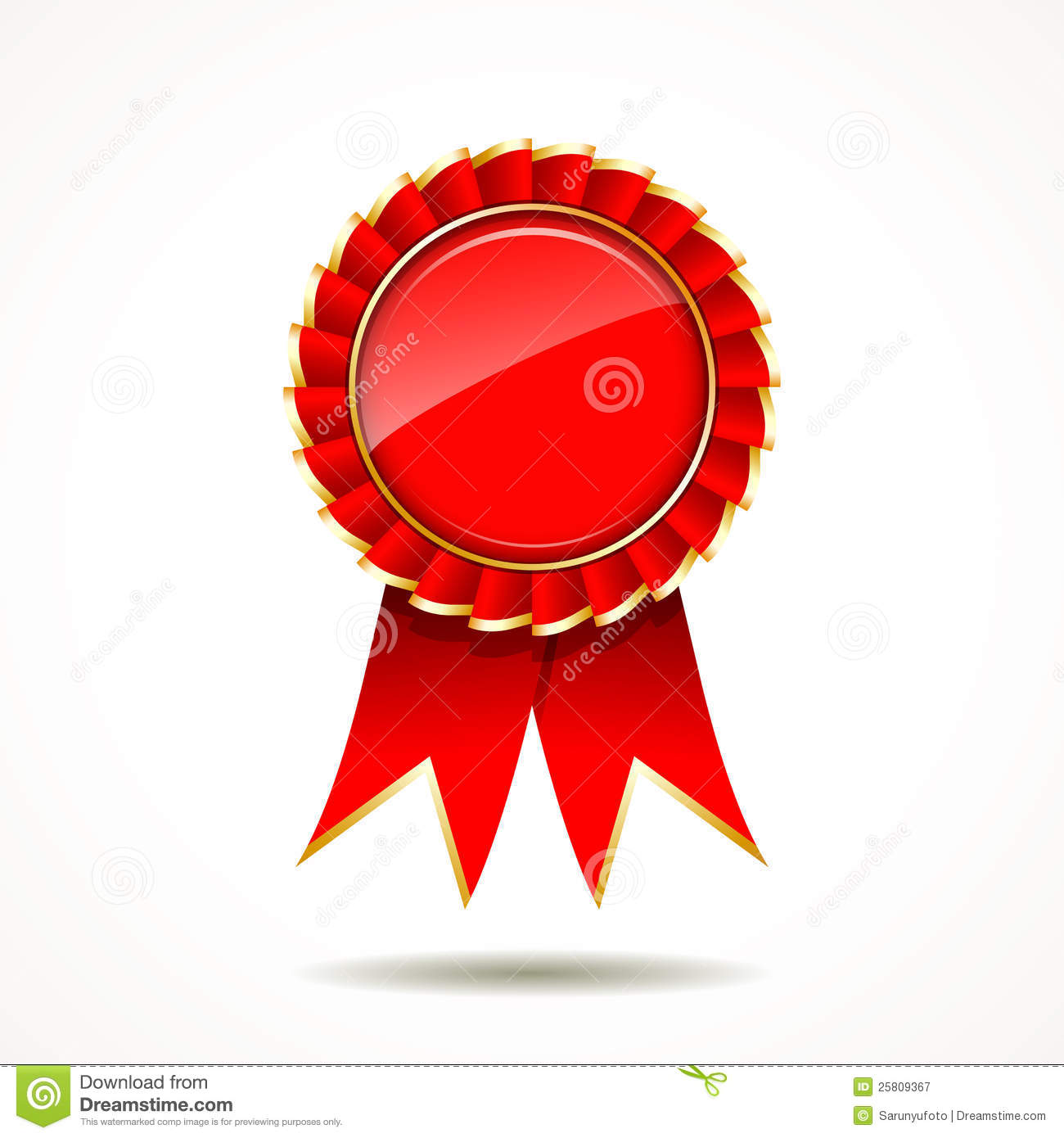 Red ribbon award clipart picture library Red And Gold Ribbon Award Royalty Free Stock Photography - Image ... picture library