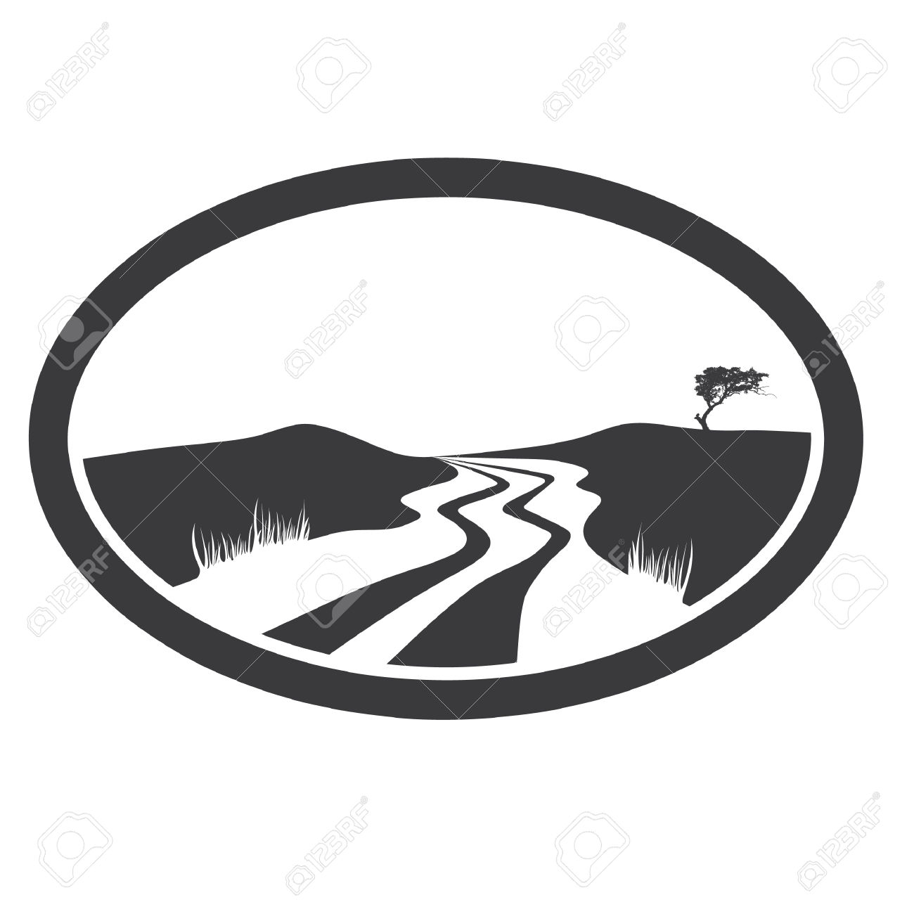 Mountains road clipart black and white png library stock River Clipart Black And White | Free download best River ... png library stock