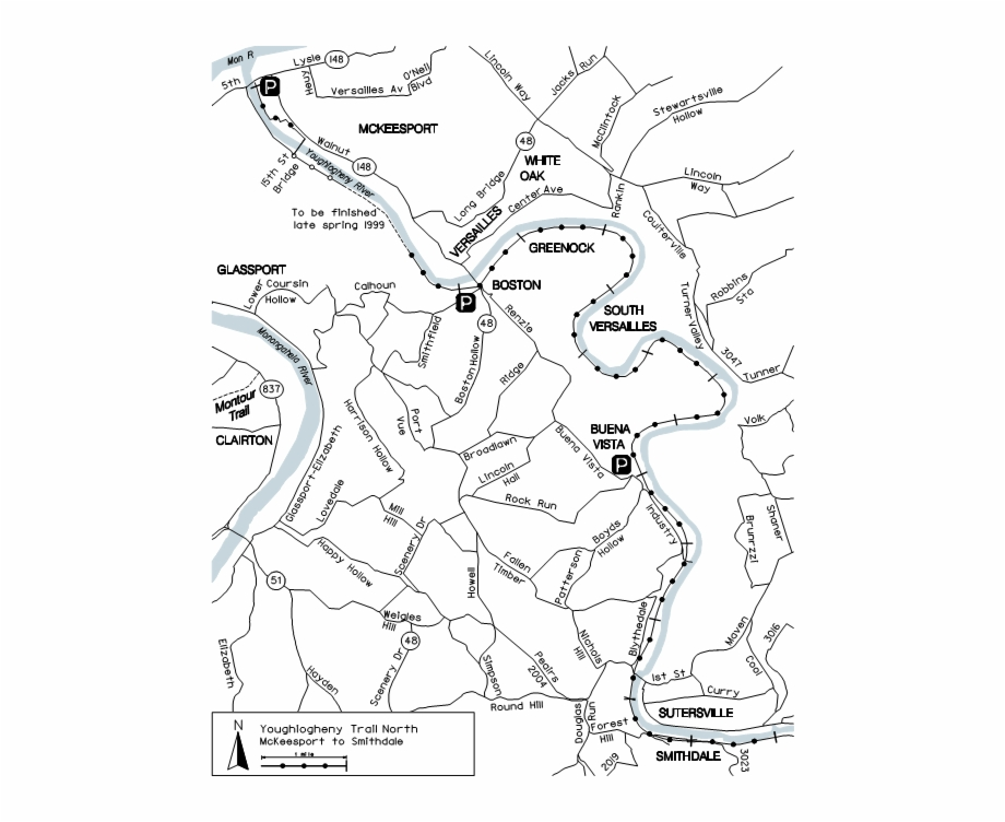 Red river valley clipart black and white clipart free Picture Black And White Library Youghiogheny River - Map ... clipart free