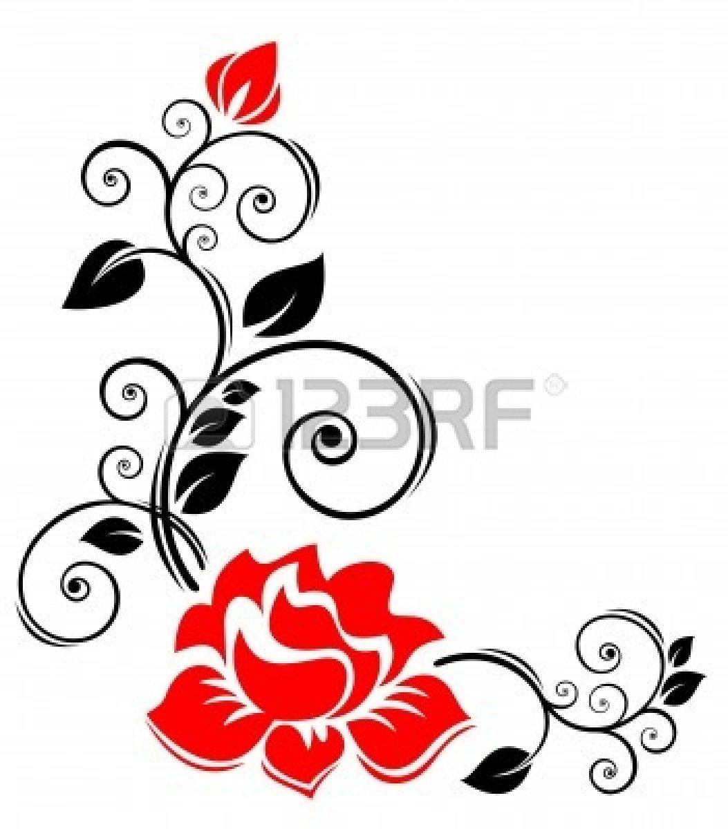 knumathise: Rose Clip Art Black And White Border Images picture library