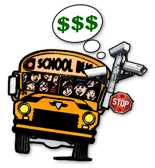 School bus safety clipart vector black and white library School Bus Ticket Cameras? | BanCams.com End Red Light Speed Cameras vector black and white library