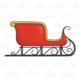 Red Sleigh, with gold trim clip library library