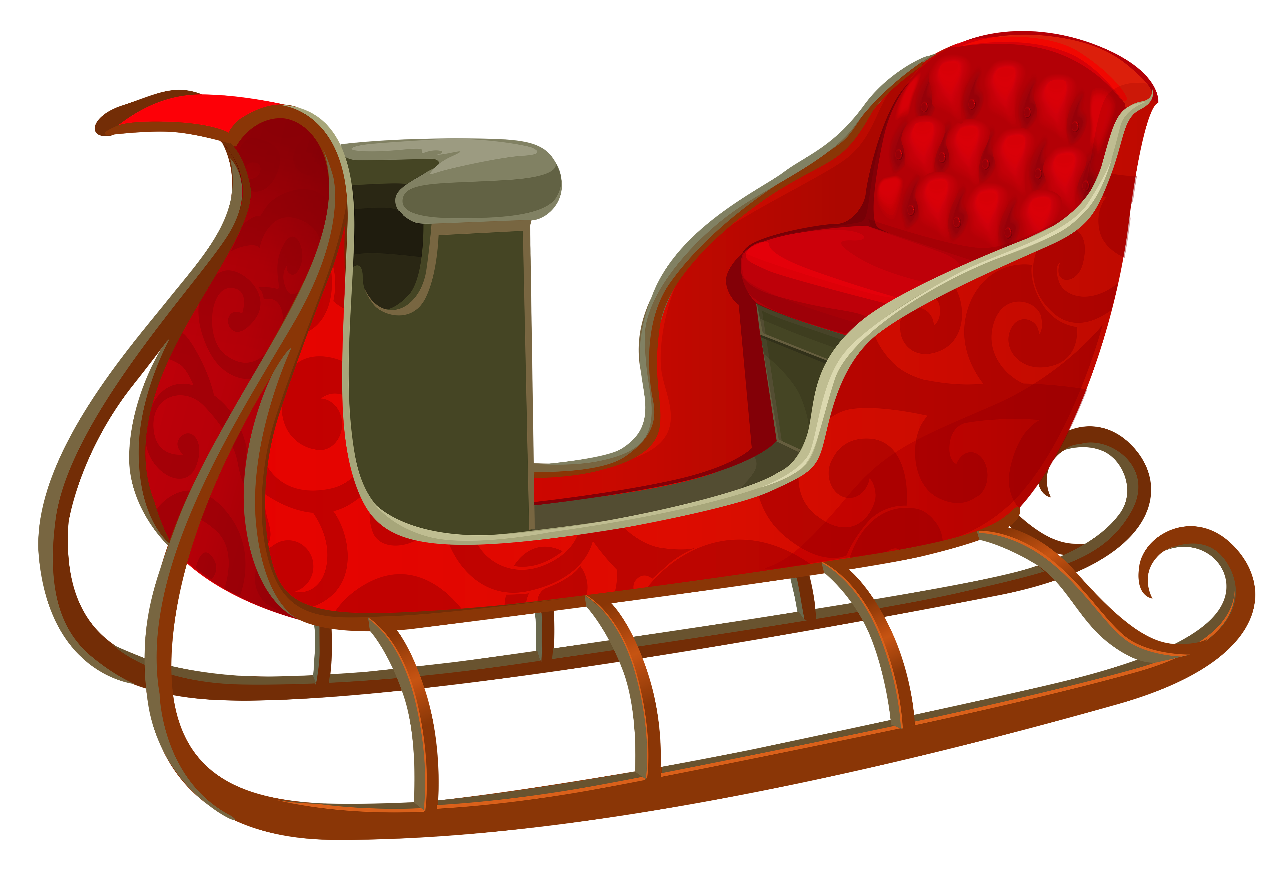 Red sleigh clipart graphic royalty free download Christmas Red Sled PNG Picture | Gallery Yopriceville ... graphic royalty free download