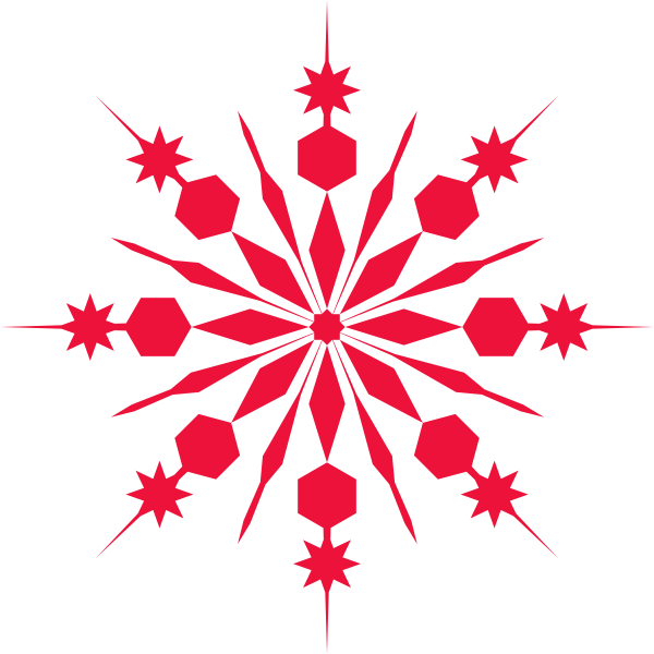 Red snowflake border clipart png transparent stock Red Snowflake Clip Art at Clker.com - vector clip art online ... png transparent stock