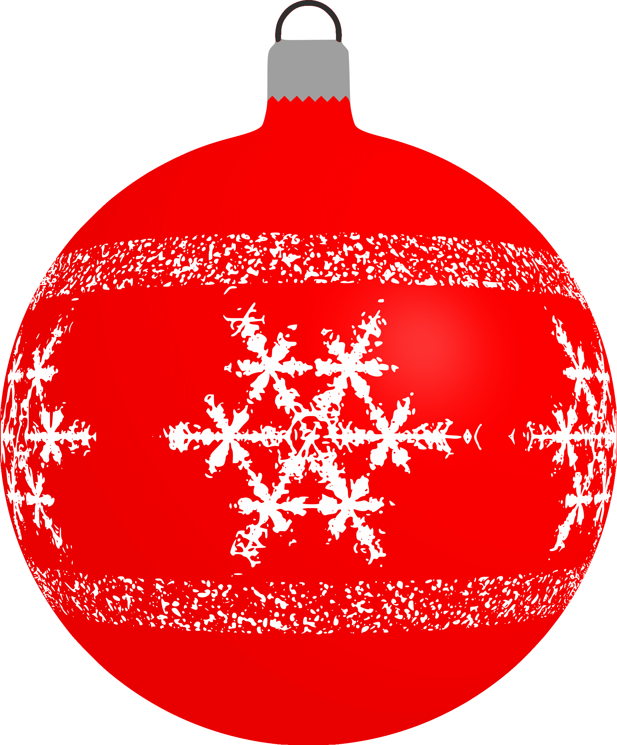 Red snowflake clipart clip art transparent Clipart - Patterned bauble 4 (red) clip art transparent