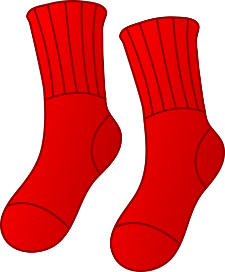 Red socks clipart png free library Pair of Red Socks - Free Clip Art png free library