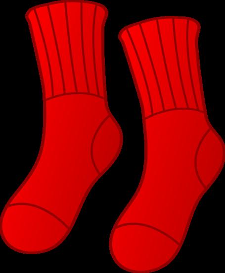 Red socks clipart