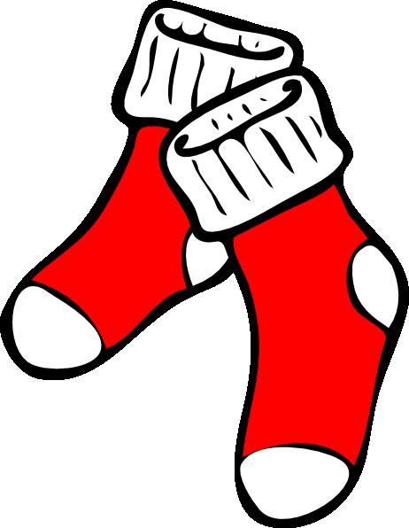 Red socks clipart vector Red Socks Clip Art at Clker.com - vector clip art online ... vector