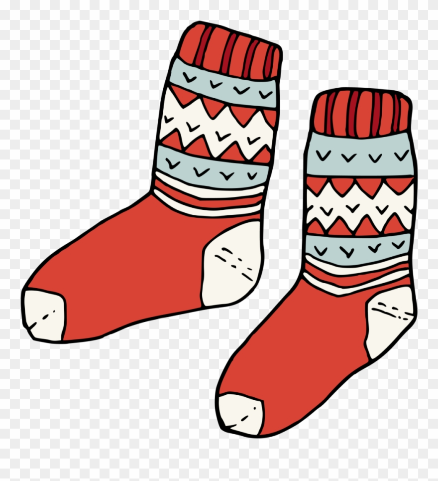 Red socks clipart clip art black and white download Hand Painted Pair Of Red Socks Winter Transparent Decorative ... clip art black and white download