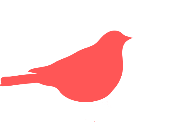 Red sparrow clipart