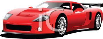 Red sports car car clipart picture transparent download Royalty Free Clip Art Image: Fast Red Sports Car picture transparent download