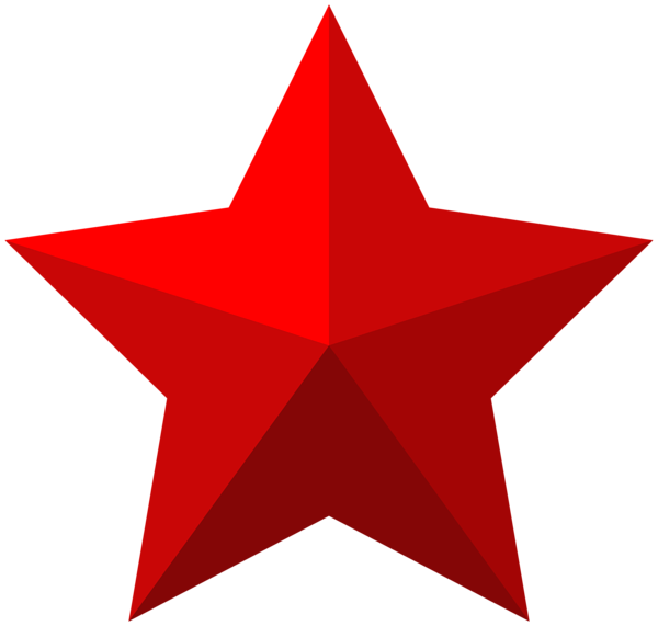 Red star frame clipart clip black and white Red star PNG images free download clip black and white