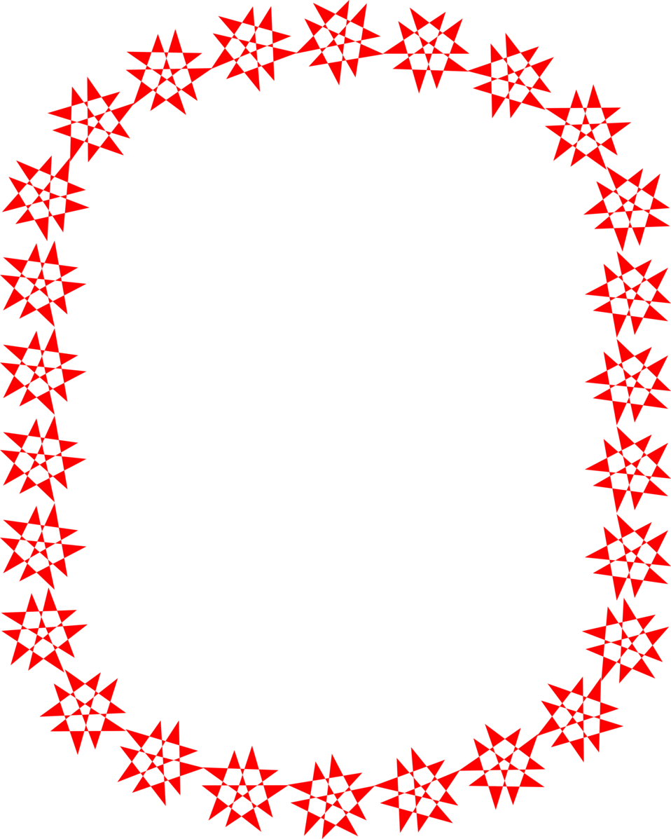 Red star frame clipart png library Border Red | Free Stock Photo | Illustration of a blank frame border ... png library