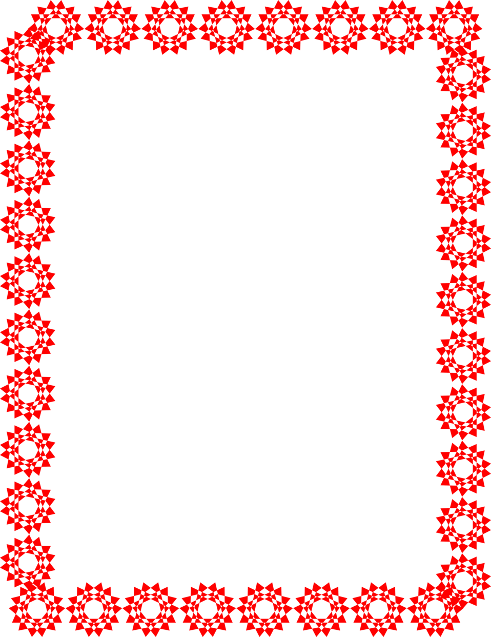 Red star frame clipart clipart transparent Border | Free Stock Photo | Illustration of a blank frame border of ... clipart transparent