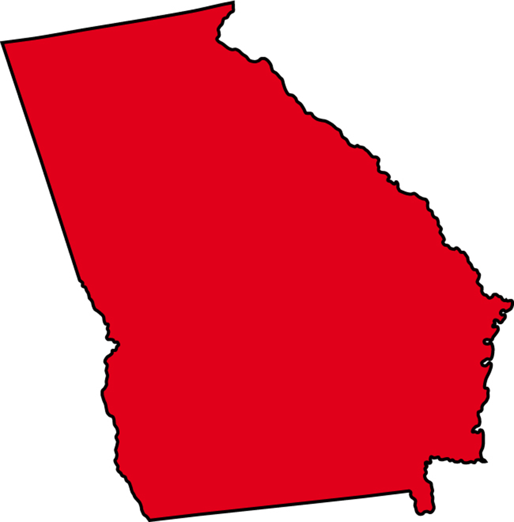 Red state map clipart png black and white stock State of georgia map clipart - ClipartFest png black and white stock