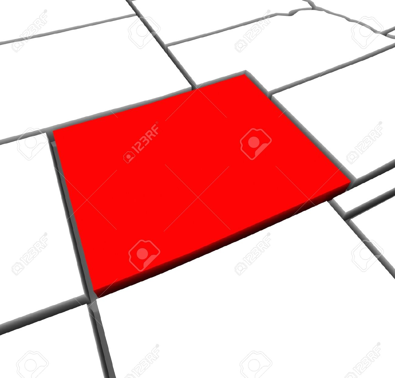 Red state map clipart graphic freeuse stock A Red Abstract State Map Of Colorado, A 3D Render Symbolizing ... graphic freeuse stock