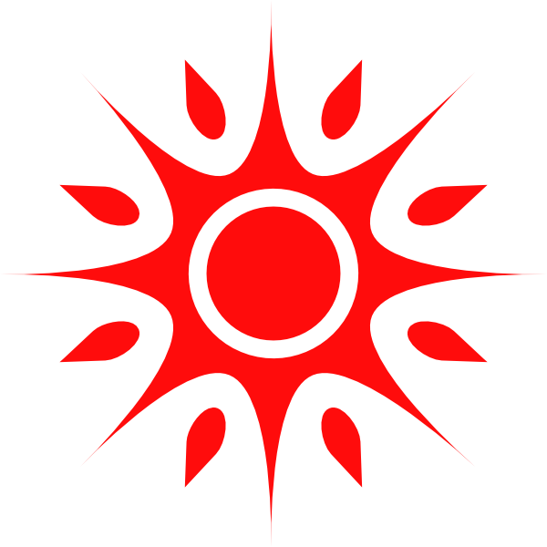 Sun spikes clipart jpg free library Red Sun Clip Art at Clker.com - vector clip art online, royalty free ... jpg free library