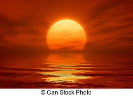 An image of a beautiful sunset over the ocean. clipart library library