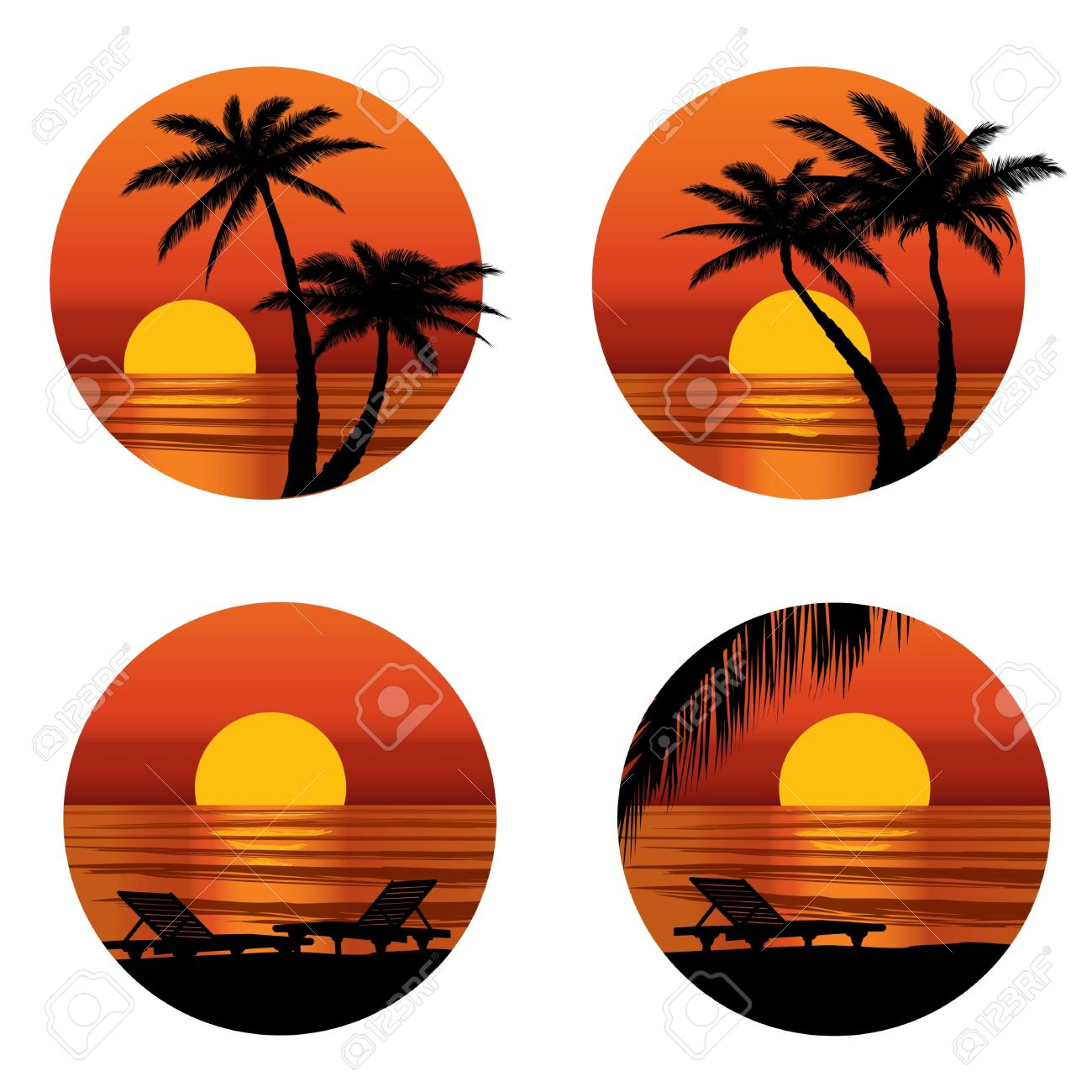 Sunset Beach Clipart | Free download best Sunset Beach ... image freeuse stock