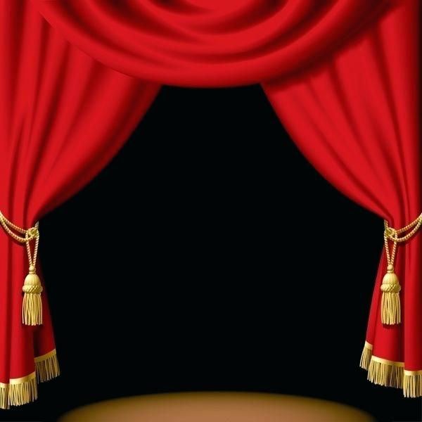Red theater curtain clipart png black and white Free Theatre Curtains Clip Art Clipart Stage Black And White ... png black and white
