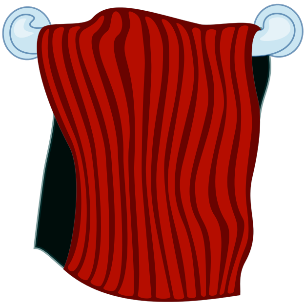 Red towel clipart royalty free download towel on rack red - /household/bathroom/towel ... royalty free download