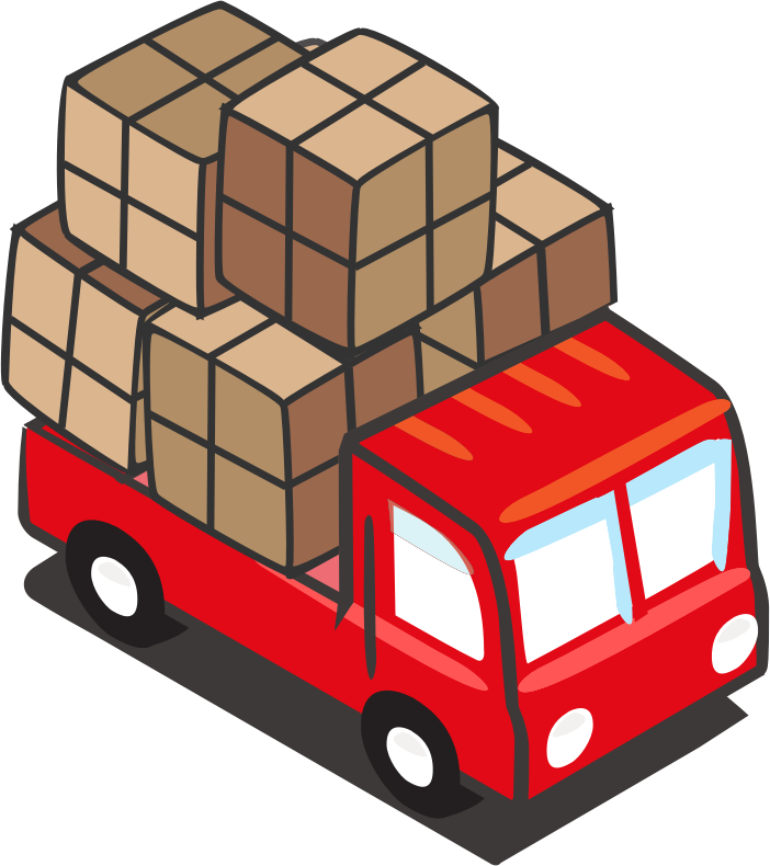 Red truck with tree clipart png Trucks Red Open Safe Icon Png - 4380 - TransparentPNG png